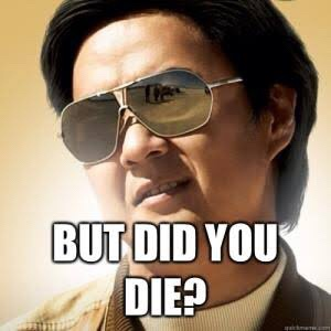 But did you die meme Asian man sunglasses